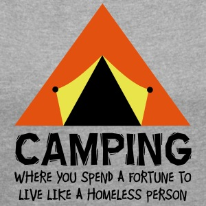 Camping - Women's T-shirt with rolled up sleeves