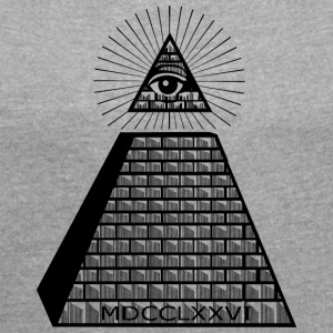 Eye of Providence - Dame T-shirt med rulleærmer