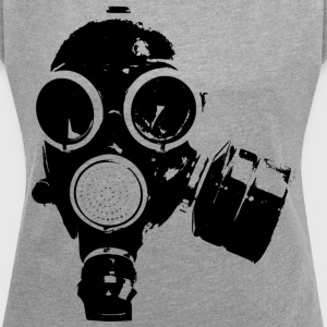 gas-mask - Women's T-shirt with rolled up sleeves