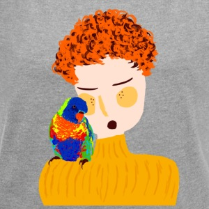 parrot love - Women's T-shirt with rolled up sleeves