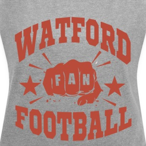 Watford Football Fan - Frauen T-Shirt mit gerollten Ärmeln