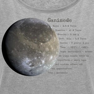 Ganymede - Women's T-shirt with rolled up sleeves