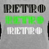 Retro Collections - T-skjorte med rulleermer for kvinner