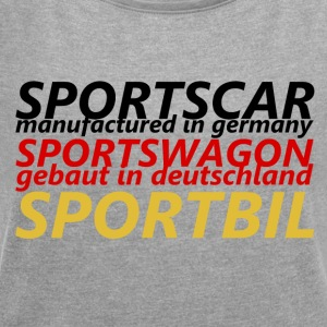 Sports Car - Women's T-shirt with rolled up sleeves