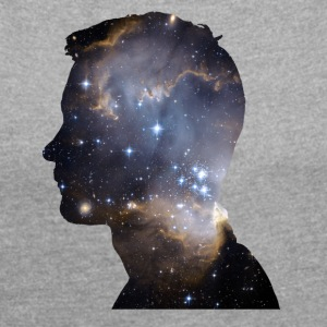 SPACE HEAD - T-shirt med upprullade ärmar dam