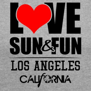 Love, Sun & Fun · Los Angeles · Kalifornien - T-shirt med upprullade ärmar dam