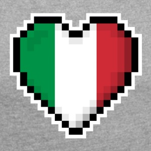 LOVE Italy - Women's T-shirt with rolled up sleeves