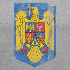 Romanian Coat of Arms Romania Symbol - Women's T-shirt with rolled up sleeves
