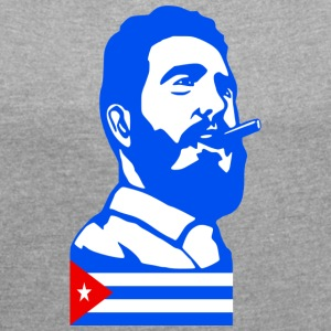 Fidel Castro Cuba - Women's T-shirt with rolled up sleeves