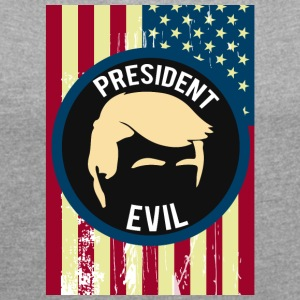 President of the United States of America (USA) - Frauen T-Shirt mit gerollten Ärmeln