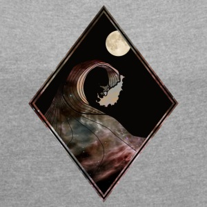 Darkwave - Women's T-shirt with rolled up sleeves