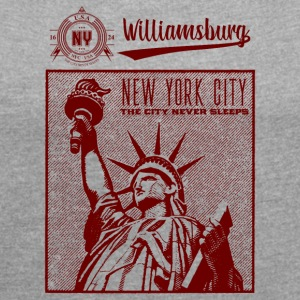 New York City · Williamsburg - Women's T-shirt with rolled up sleeves