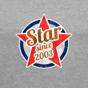 Gift for Stars born in 2003 - Women's T-shirt with rolled up sleeves