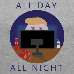 All Day - All Night | Gaming - Dame T-shirt med rulleærmer
