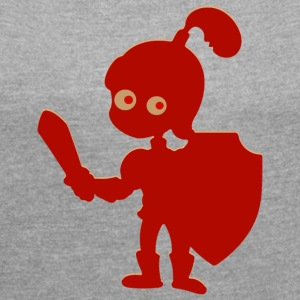 Little knight - Women's T-shirt with rolled up sleeves