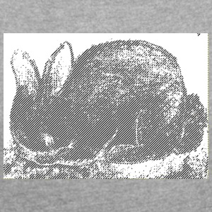 Black Rabbit - Women's T-shirt with rolled up sleeves