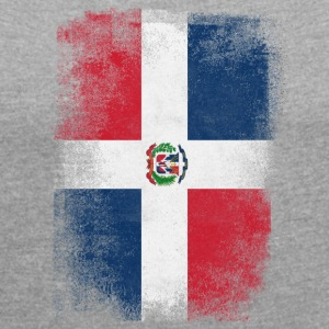 Dominic Republic Flag Dominican Vintage Distressed - T-shirt med upprullade ärmar dam