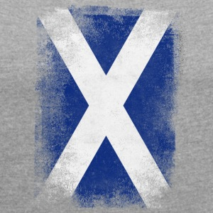 Scotland flag Proud Scottish Vintage Distressed - Women's T-shirt with rolled up sleeves