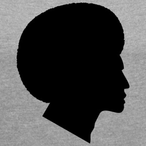Africans with African Silhouette (Funk / Soul Style) - Women's T-shirt with rolled up sleeves