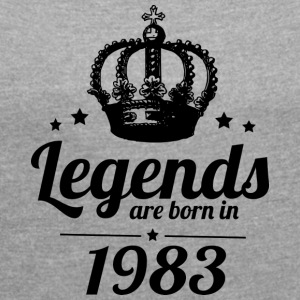 Legends 1983 - Dame T-shirt med rulleærmer
