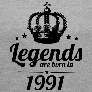 Legends 1991 - Women's T-shirt with rolled up sleeves