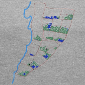 Tetris Map (Jabalya) COLOR - Women's T-shirt with rolled up sleeves