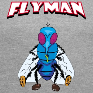 Fly Man - Women's T-shirt with rolled up sleeves