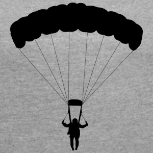 parachuting - Women's T-shirt with rolled up sleeves