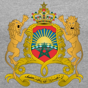 Morocco Coat of Arms - Women's T-shirt with rolled up sleeves