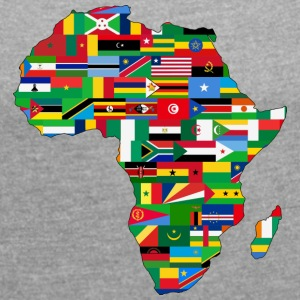 africa collection - Frauen T-Shirt mit gerollten Ärmeln