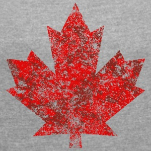 Canada Canada Maple Leaf Maple Leaf Grunge-Amerika - T-skjorte med rulleermer for kvinner