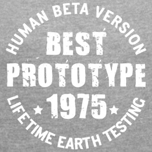 1975 - The year of birth of legendary prototypes - Women's T-shirt with rolled up sleeves