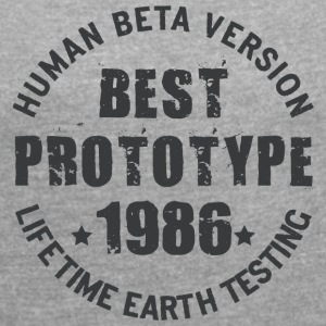 1986 - The year of birth of legendary prototypes - Women's T-shirt with rolled up sleeves