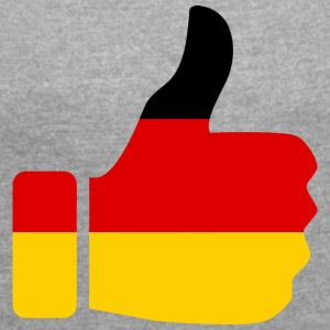 GERMANY MY COUNTRY COLLECTION - Frauen T-Shirt mit gerollten Ärmeln
