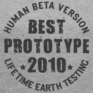 2010 - The birth year of legendary prototypes - Women's T-shirt with rolled up sleeves