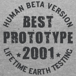 2001 - The birth year of legendary prototypes - Women's T-shirt with rolled up sleeves