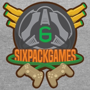 Sixpack Games Logo - Women's T-shirt with rolled up sleeves