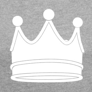 crown - Women's T-shirt with rolled up sleeves