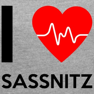 I Love Sassnitz - I love Sassnitz - Women's T-shirt with rolled up sleeves