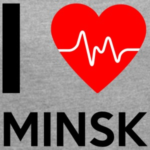 I Love Minsk - I love Minsk - Women's T-shirt with rolled up sleeves