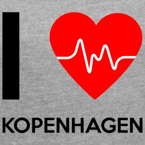 I Love Copenhagen - I love Copenhagen - Women's T-shirt with rolled up sleeves