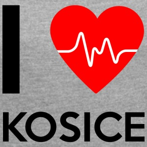 I Love Kosice - I love Kosice - Women's T-shirt with rolled up sleeves