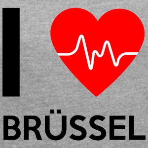 I Love Brussels - I love Brussels - Women's T-shirt with rolled up sleeves