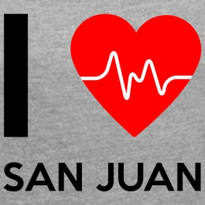 I Love San Juan - I love San Juan - Women's T-shirt with rolled up sleeves