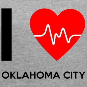 I Love Oklahoma City - I Love Oklahoma City - T-skjorte med rulleermer for kvinner