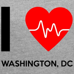 I Love Washington DC - I Love Washington DC - T-skjorte med rulleermer for kvinner