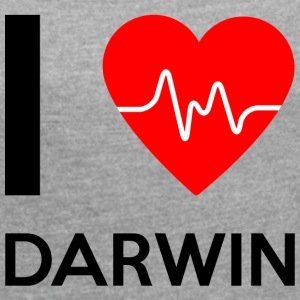 I Love Darwin - I love Darwin - Women's T-shirt with rolled up sleeves