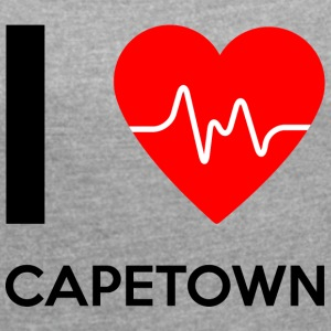 I Love Cape Town - I love Cape Town - Women's T-shirt with rolled up sleeves