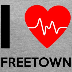 I Love Freetown - I love Freetown - Women's T-shirt with rolled up sleeves