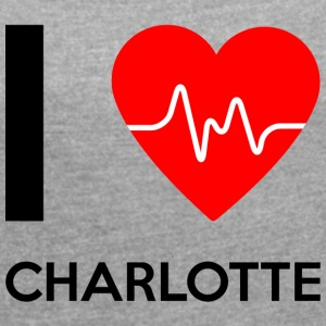 I Love Charlotte - I love Charlotte - Women's T-shirt with rolled up sleeves